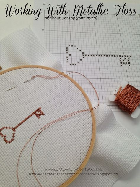 weelittlestitches: Working with Metallic Floss & a Fab Giveaway!