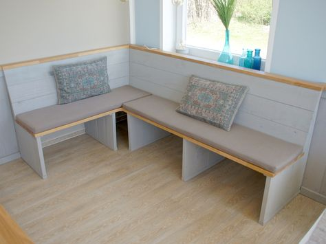 Sitzbank   Eckbank aus Holz, Gastronomie Einrichtung living - küchentresen selber bauen