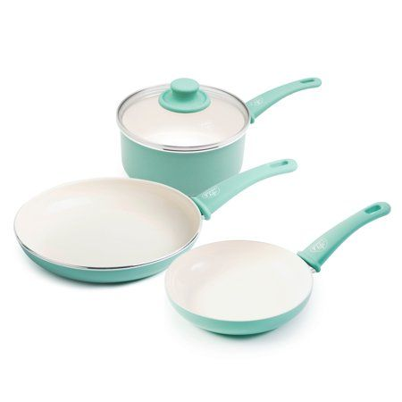 Greenlife Soft Grip Absolutely Toxin Free Healthy Ceramic Nonstick Dishwasher Oven Safe Stay Cool Handle Cookware Set Cookware Set Ceramic Non Stick Cookware