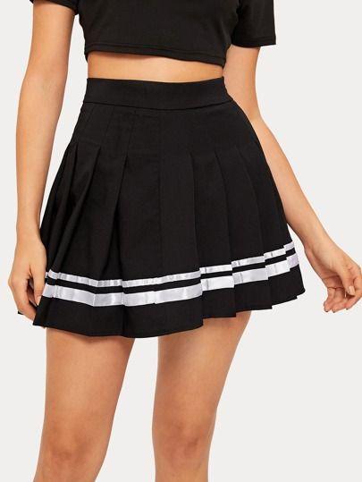 Skirts Skirts For Women Denim Skirts Plaid Skirts Maxi Skirts Romwe Trendy Outfits Skirts Pleated Skirt Short Knife Pleated Skirt