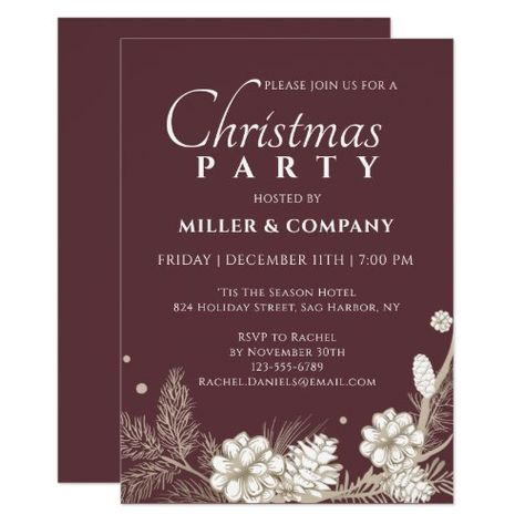 Christmas Pine Modern Corporate Christmas Party Invitation christmas gift bucket, christmas gift alternatives, holiday gifts #ChristmasGiftSet #resin #art4small, back to school, aesthetic wallpaper, y2k fashion