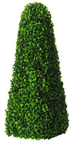 Pairs Artificial Topiary Trees Obelisk Buxus Plant Boxwood Outdoor by Primrose®