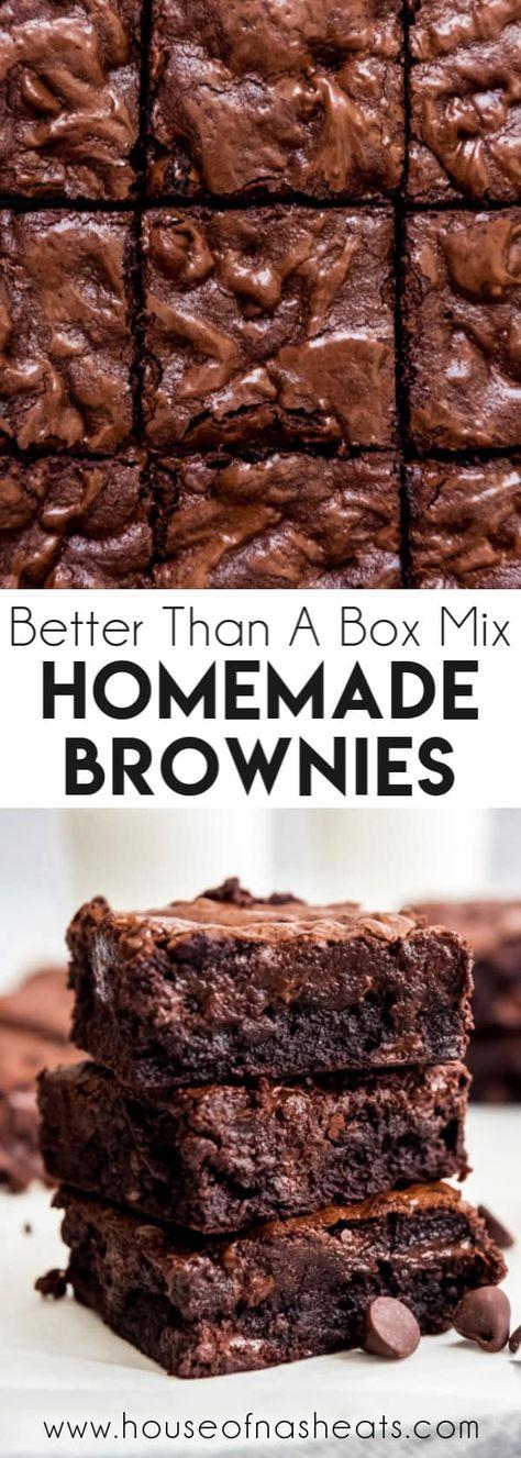 Kakao Brownies, Beste Brownies, Chewy Brownies, Easy Brownies, How To Make Brownies, Brownie Recipe With Cocoa, Best Brownie Recipe, Recipe For Brownies, Homemade Brownie Recipes