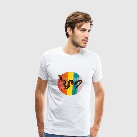 Schlange Popart Dschungel Männer Premium T Shirt Weiß