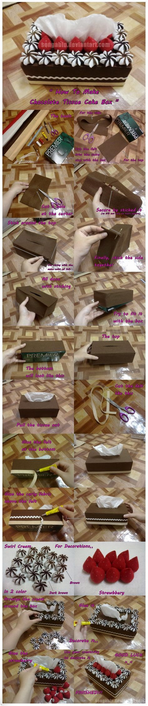 Chocolate Tissue Cake Box.. by ~SongAhIn on deviantART