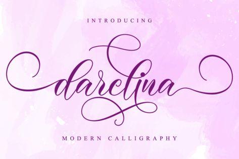 Darelina (Font) by NissaStudio · Creative Fabrica