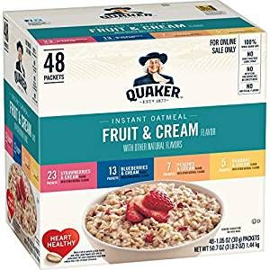 Quaker Instant Oatmeal Fruit And Cream Variety Pack In 2020 Quaker Instant Oatmeal Oatmeal With Fruit Fruit Cream