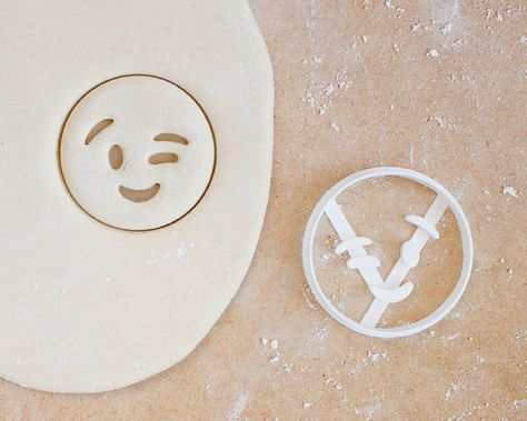 Wink Face Emoji Cookie Cutter Smiling Iphone Android by RochaixCo