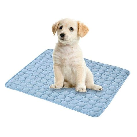 Yueunishi Pet Dog Cat Cooling Mat Self Cooling Gel Mat Pad Comfortable Sleeping Cooler Bed Mattress Waterproof Dustproof P Cat Bed Cat Lovers Dog Cat