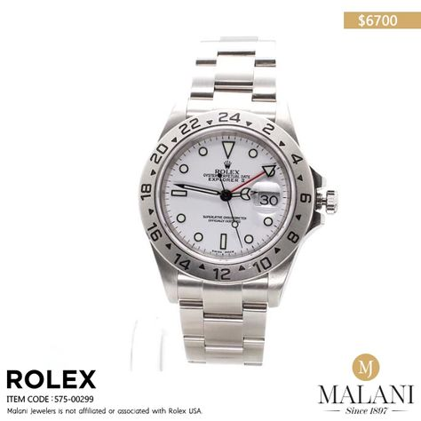 For the explorer in you. Get your hands on this #Rolex watch. #MalaniJewelers