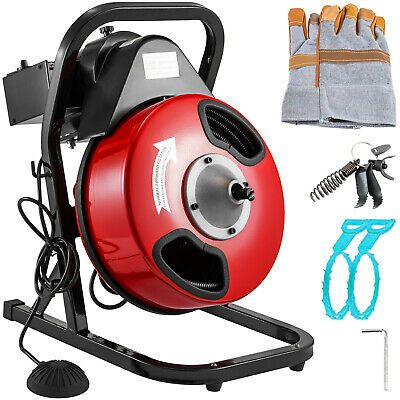 Sponsored Ebay Drain Cleaning Machine 250w Drain Cleaner 50 X 1 2 Solid Core Auger Cable In 2020 Drain Cleaner Plumbing Tools Clean Machine