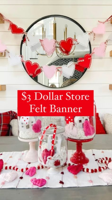 $3 Dollar Tree Valentine's Day banner!