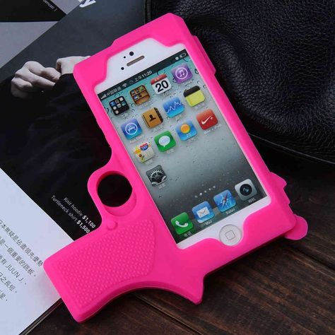 Raytop Gun Shaped Soft Silicone iPhone Cover