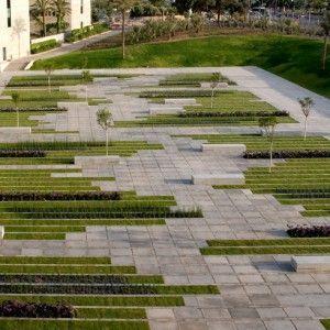 Bgu University Entrance Square By Chyutin Architects Landscape Architecture P Landscape Architecture Design Landscape Architecture Plan Urban Landscape Design