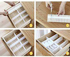 Jsf Diy Schubladen Organizer Verstellbare Schreibtisch Organizer Kunststoff 12er Set Schubladeneinsatz Kosme In 2020 Schubladen Organizer Schubladenteiler Schubladen