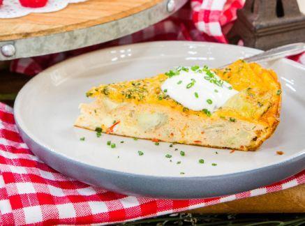 Creamy Artichoke Frittata In 2020 Artichoke Frittata Recipes Food Network Recipes