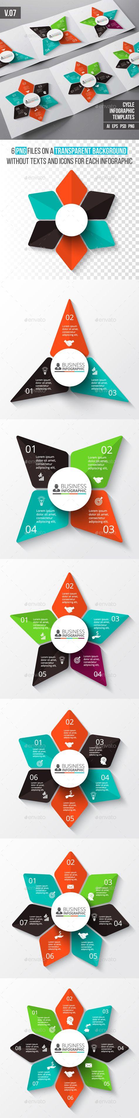Infographics templates psd
