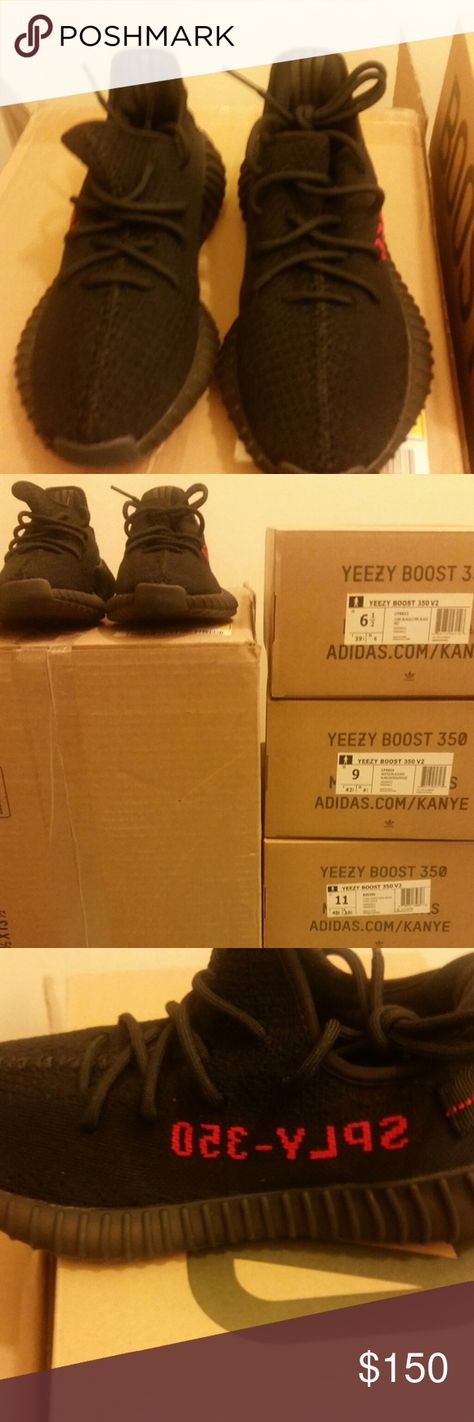 Adidas Yeezy Boost 350 v2 Black Red Unauthorized Authentic. New with box.  Size 6.5 US MEN. Text me at (773)831-8509 for a faster response. 1ff02ab829d3