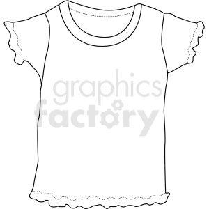 Black White Girls T Shirt Vector Clipart Black And White Girl Girls Tshirts Clip Art