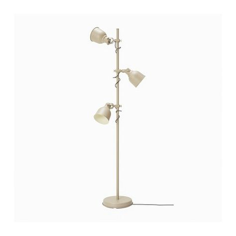 HEKTAR Floor lamp with 3 spot Beige IKEA | Floor lamp, Ikea