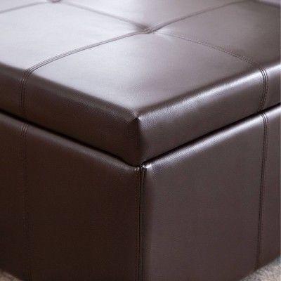 Prime Joshua Double Flip Storage Ottoman Abbyson Living Brown Creativecarmelina Interior Chair Design Creativecarmelinacom