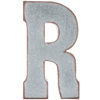 Galvanized Metal Letter Wall Decor R In 2020 Letter Wall Decor