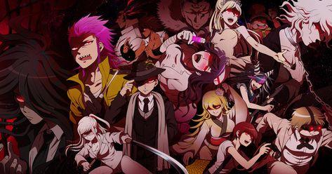 HD wallpaper: anime movie wallpaper, danganronpa 3, characters, dark theme