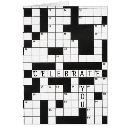 Birthday Crossword Puzzle Card Birthday Gifts Giftideas Present Party Crossword Gift Crossword Puzzle Crossword