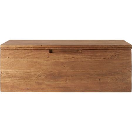 Acacia Wood Storage Bench Reviews Cb2 In 2021 Wood Storage Wood Storage Bench Staining Wood