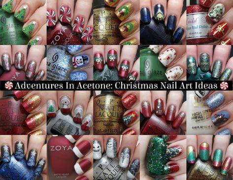 Christmas Nail Art Idea Round-up!