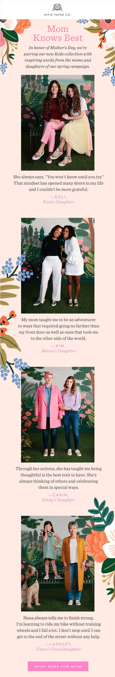 Mother's Day Emails That Will Impress Your Mom - Email Design