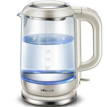 1 5l Electric Glass Clear Tea Kettle Water Boiler Kettle Boiler