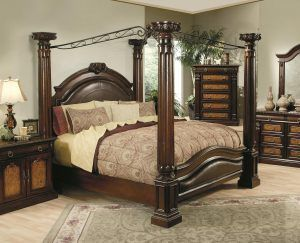 Palm Tree Bedroom Furniture Queen Canopy Bed California King