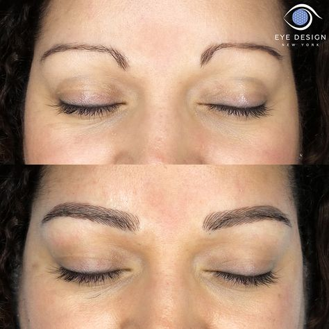 Affordable eyebrow microblading in New York for beautiful custom brow design, shape, color and intensity. The perfect semi permanent solution to correct thin eyebrows!