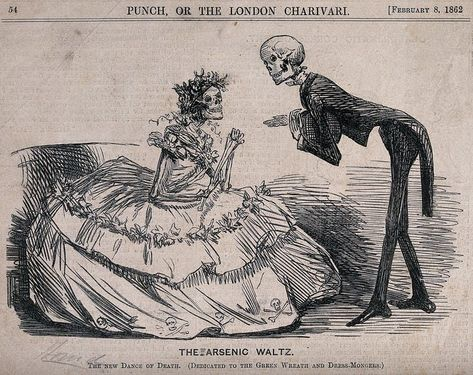 Arsenic Waltz Dictionary Picture Dance Skeleton Story Art Print Gothic Picture