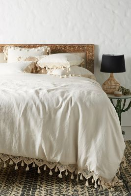 Tasseled Linen Duvet Cover With Images Duvet Cover Master