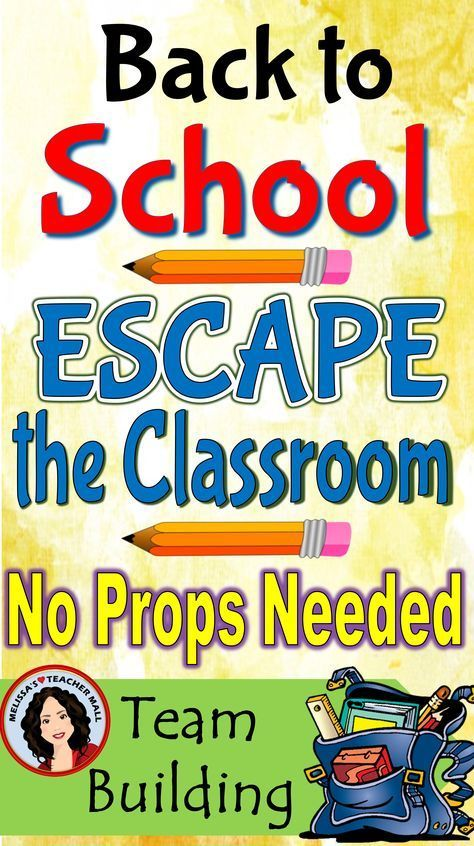 Back to School Activity Escape Room Game   Back to School