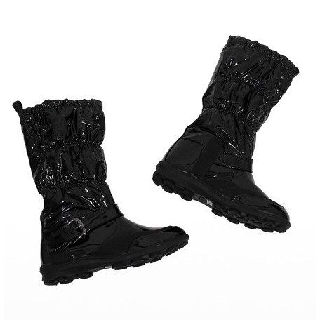 Czarne Krotkie Lakierowane Kozaki Ocieplane Y110 Boots All Black Sneakers Shoes