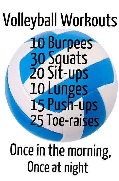 Great workout for volleyball players!