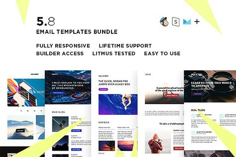 5 Email templates bundle VIII