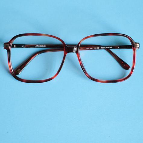 15646873e0 Oliver Goldsmith 90s Vintage Eye Glasses   Red Tortoise Shell Glasses Frame    Retro 90s Square Glass