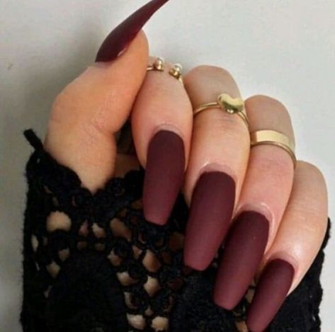 70 Most Sexy Burgundy Color Nails Design For Prom And Wedding - Page 26 of 69 - Diaror Diary