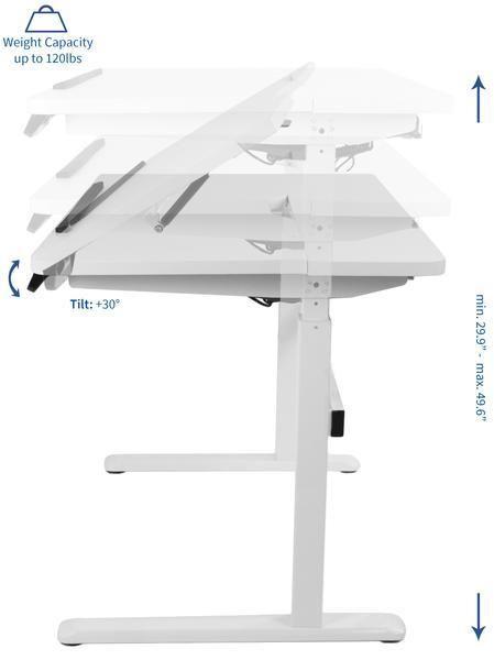 Excellent Vivo Desk V101Ed White Height Adjustable Electric Motor Download Free Architecture Designs Sospemadebymaigaardcom