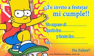 Invitación De Los Simpson Para Imprimir Tarjetas De