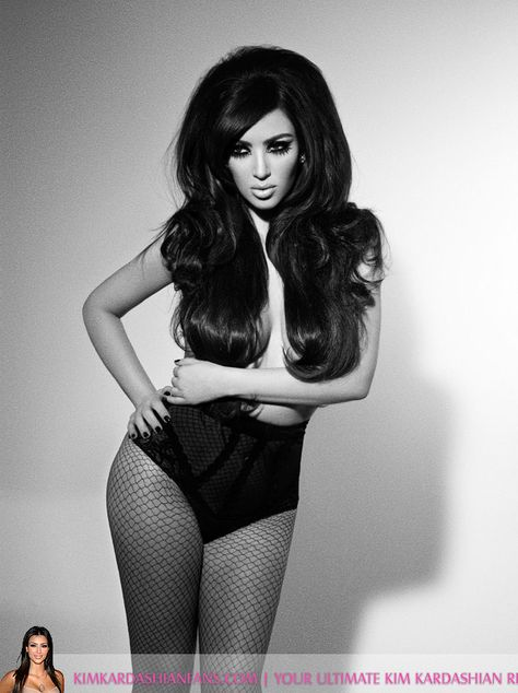 boudoir pic of kim k. loved this photoshoot