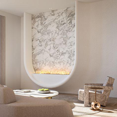 Architectural studio concept #fireplace #design #NewYork #apartments #apartmentsNYC #NYCdesign #designtrend2020 #trends2020 #newtrendsininteriordesign #interiordesign #SalonedelMobile #SculpturesàVivre