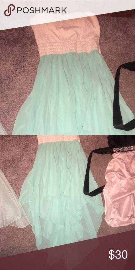 Semi formal dress Beautiful teal and white semi formal dress Rue21 Dresses Strapless