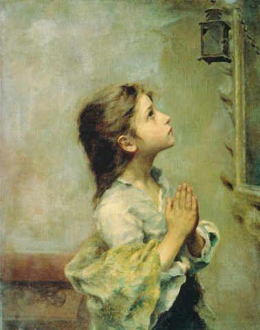 Roberto Ferruzzi - Girl Praying