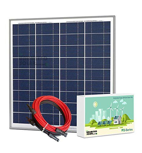 Unlimited Solar P2 Series 55 Watt 12 Volt Off Grid Solar Panel Kit