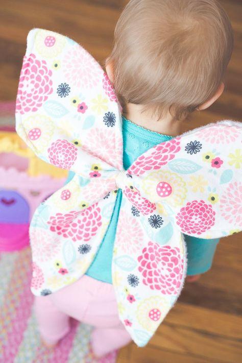 Dress up butterfly wings tutorial!